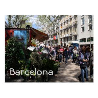 Rambla, Barcelona Postcard