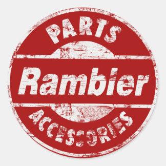 RAMBLER PARTS DISTRESSED CLASSIC ROUND STICKER