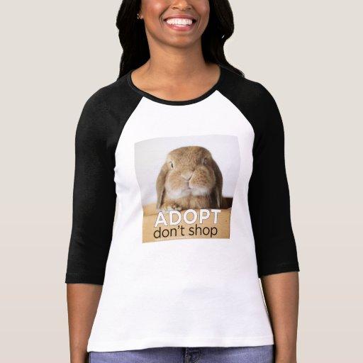 Rambo Bunny Adopt Don't Shop Tshirts
