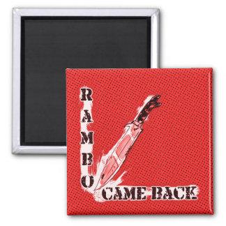 rambo came back knife cartoon style illustration magnet