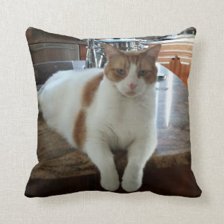 Rambo Kitty Throw Pillow