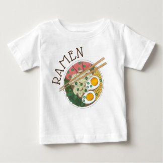 Ramen Noodles Bowl Japanese Food Restaurant Foodie Baby T-Shirt