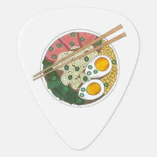 Ramen Noodles Bowl Japanese Food Restaurant Foodie Guitar Pick