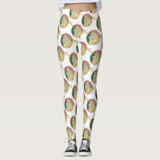 Ramen Noodles Bowl Japanese Food Restaurant Foodie Leggings