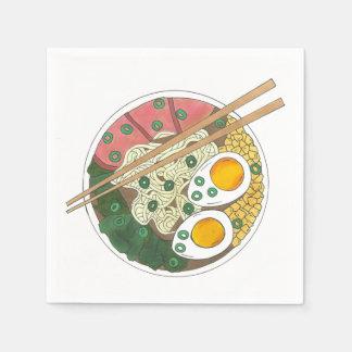 Ramen Noodles Bowl Japanese Food Restaurant Foodie Napkin