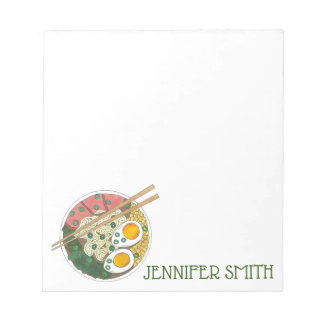 Ramen Noodles Bowl Japanese Food Restaurant Foodie Notepad