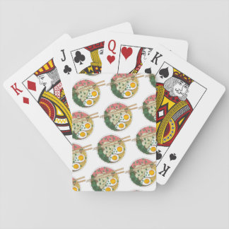 Ramen Noodles Bowl Japanese Food Restaurant Foodie Playing Cards