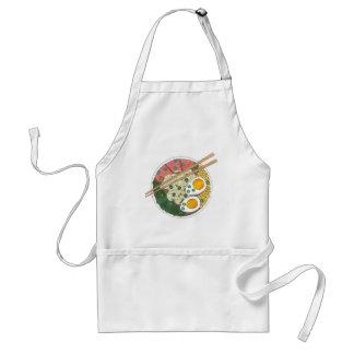 Ramen Noodles Bowl Japanese Food Restaurant Foodie Standard Apron