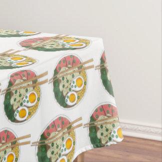 Ramen Noodles Bowl Japanese Food Restaurant Foodie Tablecloth