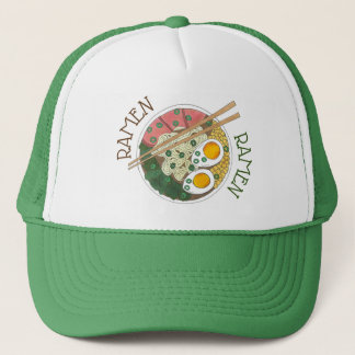 Ramen Noodles Bowl Japanese Food Restaurant Foodie Trucker Hat