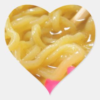Ramen Noodles Heart Sticker