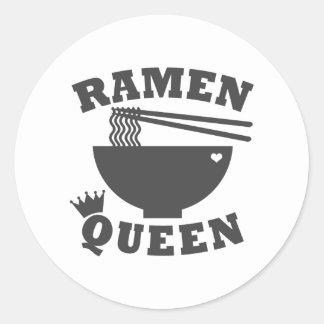 Ramen Queen Classic Round Sticker