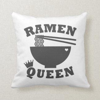 Ramen Queen Throw Pillow