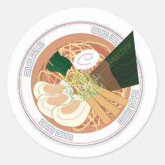 Ramen Sticker, Round, Sheet of 20 (Tokyo Shoyu) Classic Round Sticker