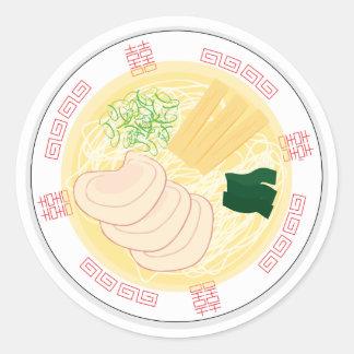 Ramen Sticker, Sheet of 20 (Hakodate Shio) Classic Round Sticker
