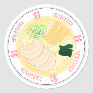 Ramen Sticker, Sheet of 20 (Hakodate Shio) Round Sticker