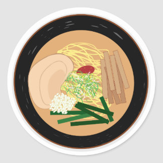 Ramen Sticker, Sheet of 20 (Kyoto Shoyu) Round Sticker