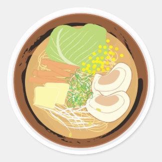 Ramen Sticker, Sheet of 20 (Sapporo Miso) Classic Round Sticker