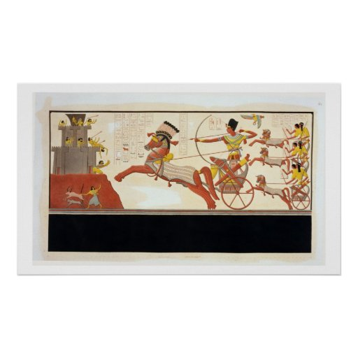 Ramesses II (1279-13 BC) at the Battle of Kadesh, Print
