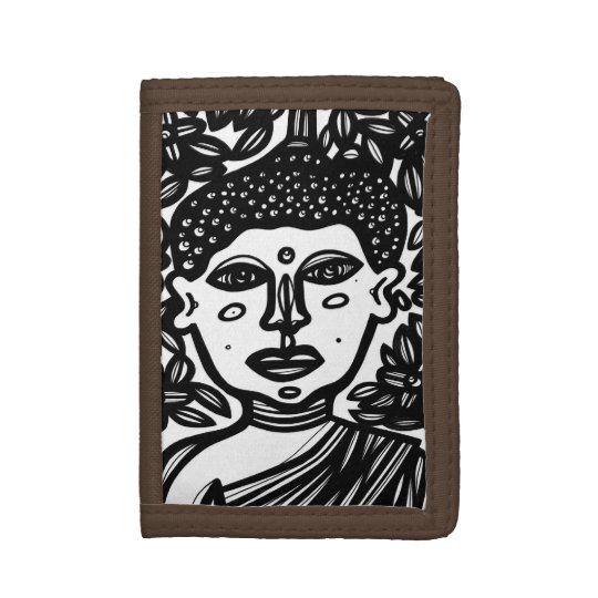 """Ramire"" Men's TriFold Wallet Black and White"