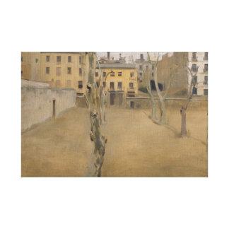 Ramon Casas -Courtyard of the Old Barcelona Prison Canvas Print