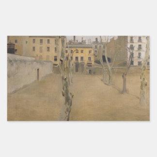 Ramon Casas -Courtyard of the Old Barcelona Prison Sticker