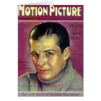 Ramon Novarro vintage illustration Card