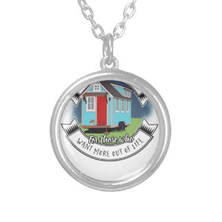 ramon - tiny house silver plated necklace