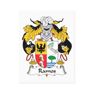Ramos Family Crest Canvas Print