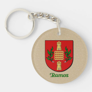 Ramos Historical Shield and Spanish Flag Double-Sided Round Acrylic Keychain