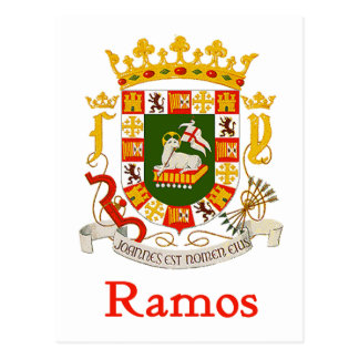 Ramos Shield of Puerto Rico Postcard