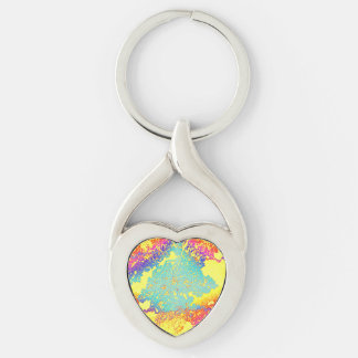 Ramos Silver-Colored Twisted Heart Keychain
