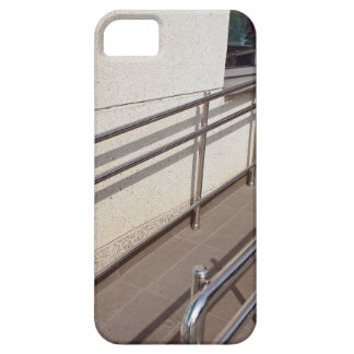 Ramp for physically challenged with metal railing case for the iPhone 5