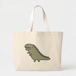 Rampaging Dinosaur! Large Tote Bag