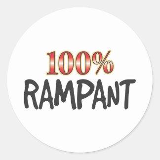 Rampant 100 Percent Sticker