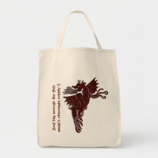 Rampant Chocolate Dragon holdall Tote Bag