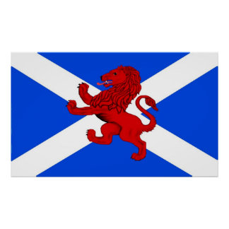 Rampant lion / Scotland's flag Poster