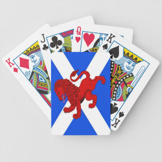 Rampant lion, Scottish flag Saint Andrews Playing  Bicycle Playing Cards