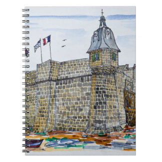 Ramparts  & Gate of Concarneau | Brittany, France Spiral Notebook