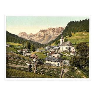 Ramsau, general view, Upper Bavaria, Germany rare Postcard