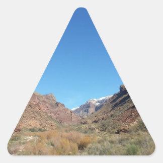 Ranch du sud de fantôme de parc national de canyon autocollants en triangle