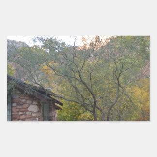 Ranch du sud de fantôme de parc national de canyon autocollants rectangulaires