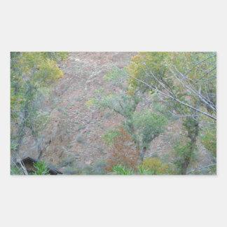 Ranch du sud de fantôme de parc national de canyon sticker en rectangle