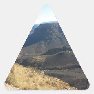 Ranch du sud de fantôme de parc national de canyon sticker en triangle