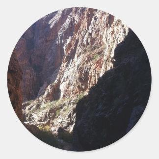 Ranch du sud de fantôme de parc national de canyon sticker rond