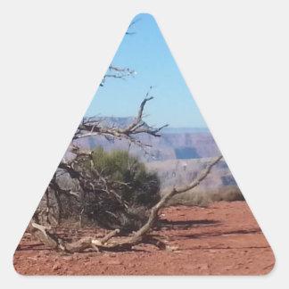 Ranch du sud de fantôme de parc national de canyon sticker triangulaire
