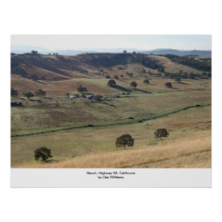 Ranch, Highway 99, Northern California Poster