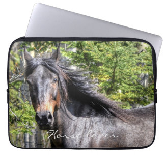 Ranch Horse Theme for Equine-lovers Laptop Sleeve
