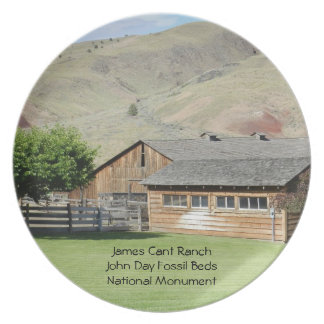 Ranch, James Cant John Day Fossil Beds NM Party Plates