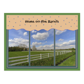 Ranch Life Scenic Window Postcard